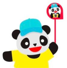 これがまさに「パンダ」スタイルです!
